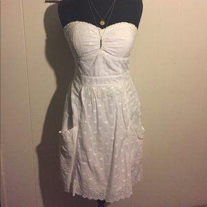 2/$25 American Eagle Polka Dot White Eyelet Dress